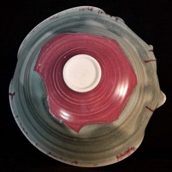 Wide porcelain bowl, down side view
