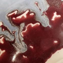 Cuenco ancho de porcelana, detalle del esmalte