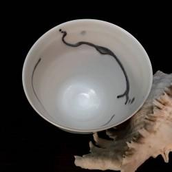 Midsize porcelain vase, interior view