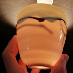中型瓷器花瓶,釉的细节