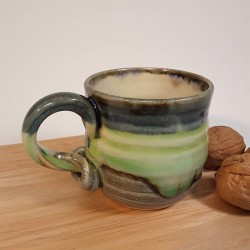 Stoneware espresso cup, right view
