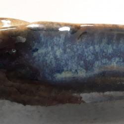 Cuenco bajo o plato hondo, detalle del esmalte
