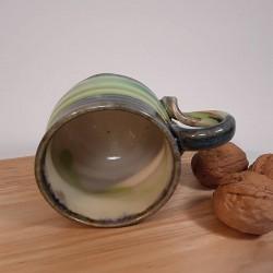Taza de espresso de gres, vista interior
