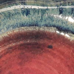 Shallow bowl or deep dish, glaze detail